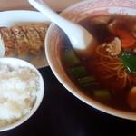 modern style china 満寿園 - 料理写真:スタミナラーメンセット