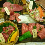 米沢亭 - 羽後牛4種盛り合わせ(3,800円)
