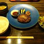 正木流鉄板割烹 グリルタクミ - 神戸牛ハンバーグステーキ(ランチ)
