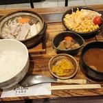 Gin yuba - 季節の野菜の豆乳鍋定食