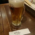 Gin yuba - 自腹ビール(笑)