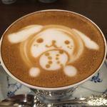 椿屋珈琲 - カフェラテアート  今回は戌年にちなんで「ワンちゃん」 苦味と甘味が絶妙‼︎