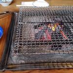 山の民 つづら - 囲炉裏で・・・