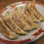 紅虎餃子房 - 「やみつき餃子」(480円+税)。サスガに美味。