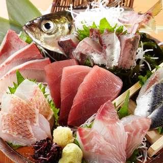 鮮度が命!魚盛自慢の刺身大漁盛り!