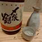 79178573 - 【2018.1.9(火)】冷酒(〆張り鶴 月・新潟県・1合)500円