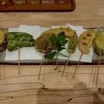 79178689 - 【2018.1.9(火)】串天野菜おまかせ7点780円