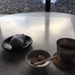 江差 旅庭 群来 - 料理写真:ウエルカムようかん