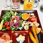 8G Horie River Terrace - グチャグッチャお皿① 前菜もなかなか目移りする美味しそーな、 そして美味しい⭐︎