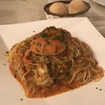 ヴィヴァーチェ - セイコ蟹のトマトクリームのスパゲティ2017年1620円
