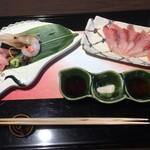 京懐石 美濃吉 - 鰤 鯛 牡丹海老