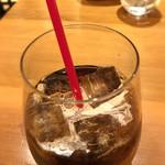 海老れんこん - 食後のアイスコーヒー
