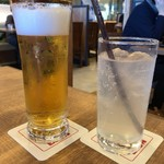 79192486 - 生ビールとパンチレモンサワー。