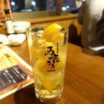 栄 馬肉酒場 馬喰ろう - 極馬レモンサワー 480円