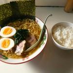 西海亭 - 料理写真:こってりラーメン並 ¥600  半ライス ¥150 茹で卵  ¥50