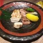 Koujigura - 薩摩軍鶏 炙り 合い盛り ¥1350