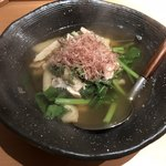 新乃 - 松茸と春菊の煮浸し