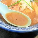 麺屋 青山 - スープ(豚骨魚介)
