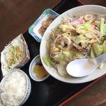 お食事処 やよい - 料理写真:ちゃんぽん定食750円
