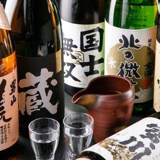 北海道の珍しい日本酒が揃い、季節の限定酒も豊富に登場