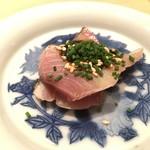 鮨 行天 - 対馬のヤイトガツオ 海苔のソース