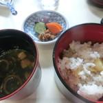 日本料理 茶寮このみ - ご飯 味噌汁