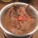 79201746 - 「本日のスープ」が何ともつ煮だった