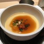 鮨 木島 - 白子の茶碗蒸し