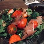 れんこん - イチゴとハーブ生サラダ