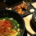 豊後辛麺 岩本 - 料理写真:豊後辛麺 ¥680 + ランチBセット ¥220
