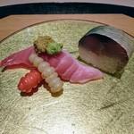 いはら田 - お凌ぎはシビ鮪のにぎり寿司、鯖寿司