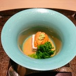 いはら田 - 蕪のムース、北海道のウニ