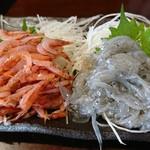 味くらべ - 生桜えび&白魚