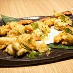 燦 - ☆ズワイ蟹と鱈白子の天麩羅