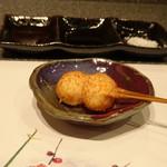 たつかわ - ◆鶉の玉子・・卵は好きですが、茹で鶉卵はあまり好まなくて。 でもこちらのは半熟ですので、美味しく思えました。