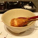 たつかわ - ◆鰆のカダイフ巻き揚げ 蕗の薹と珈琲のソース カダイフの食感がいいですね。