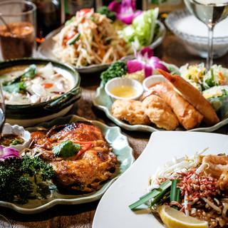 タイ人シェフが作るリーズナブルな本格タイ料理コースメニュー♪