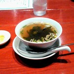明蝦 - スープとからし