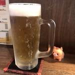 たこ焼き 上木家 - ビールグラス凍ってた♥