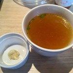 フレンチ肉バル ハルマン - スープとラム丼のお好みニンニク