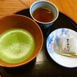 三星園 上林三入本店 - お菓子付き抹茶セット