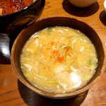 矢場とん - 矢場とん汁(味噌汁から変更¥162)。あえて赤味噌を使わないのがポイント。白菜がたっぷり入る