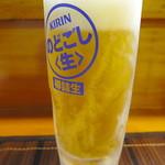 関西風あぎむん・天ぷら いっちゃん - のどごし生ジョッキ(450円)