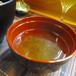 関西風あぎむん・天ぷら いっちゃん - かきあげ天丼(700円)のお吸い物