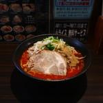 大勝彦 - 辛味味噌ラーメン(2辛、麺固め、魚粉多め)