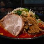 大勝彦 - 辛味味噌ラーメン(2辛、麺固め、魚粉多め)アップ