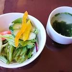 カフェ・ド・セラ - ランチのサラダ、スープ