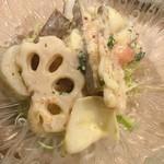 味処あきよし - 根菜のサラダ