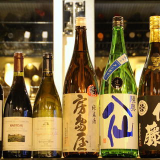 各地の日本酒・ワインをお愉しみください