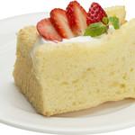 岡山珈琲館 - イチゴのシフォンケーキ